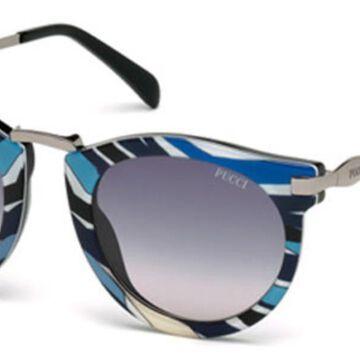 Emilio Pucci EP0025 01B Womenas Sunglasses Black Size 51
