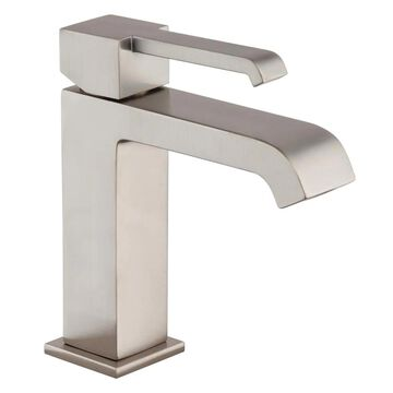 Jacuzzi Malcolm Brushed Nickel 1-Handle 4-in Centerset WaterSense Bathroom Sink Faucet with Drain and Deck Plate   MZ77826