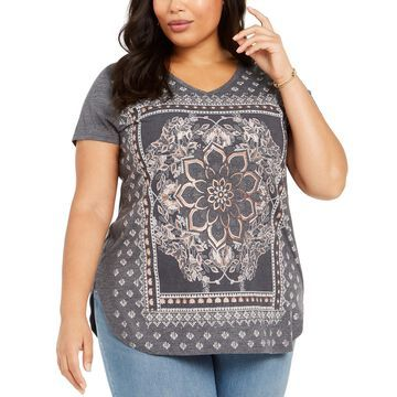 Plus Size Paisley Graphic T-Shirt, Created For Macy's
