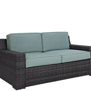 Crosley Beaufort Love Seat with Mist-Colored Cushions