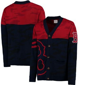 Boston Red Sox Camouflage Cardigan Sweater - Navy