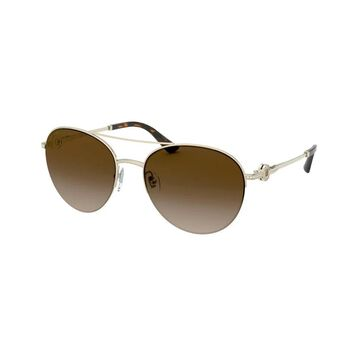 Bvlgari BV6132B 278/13 57 Pale Gold Woman Pilot Sunglasses