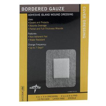 Medline Sterile Bordered Gauze 4x5