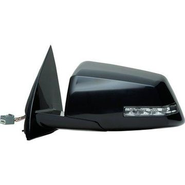62114G - Fit System Driver Side Mirror for 08-10 Saturn Outlook, black, 2nd design, PTM, w/ turn signal, foldaway, Heated Power