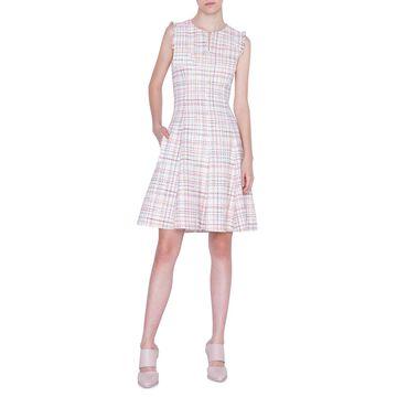 Sleeveless Tweed A-Line Dress