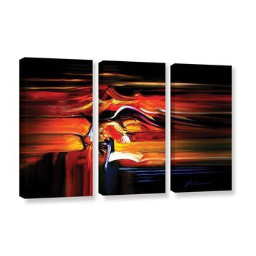 ArtWall Milen Tod 'Knot' 3 Piece Gallery-wrapped Canvas Set - Multi