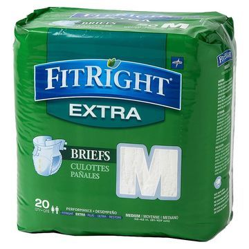 Medline FitRight Extra Briefs Medium