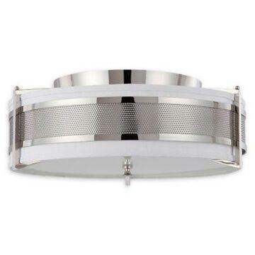 Filament Design 4-Light Add Flush-Mount Ceiling Fixture in Polished Nickel