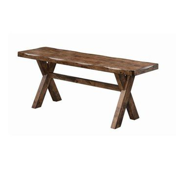 Coaster Company Allston Collection Dining Bench, Knotty Nutmeg