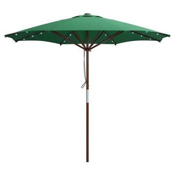 CorLiving Patio Umbrella with Solar Power LED Lights