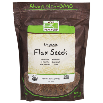 Brown Flax Seeds, Organic Now Foods 2 lbs Seeds