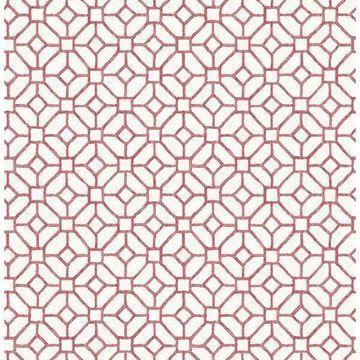 Brewster 2657-22240 Gigi Ruby Geometric Wallpaper