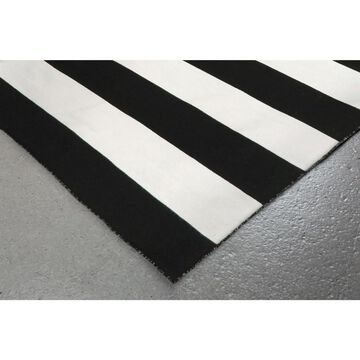 Liora Manne Sorrento Rugby Stripe Indoor/Outdoor Rug (Water 8' Square)