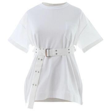 Sacai White Cotton Tops