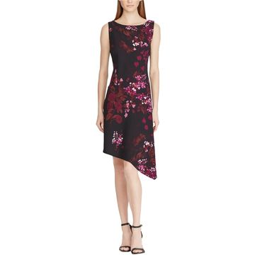American Living Womens Floral Asymmetrical Dress