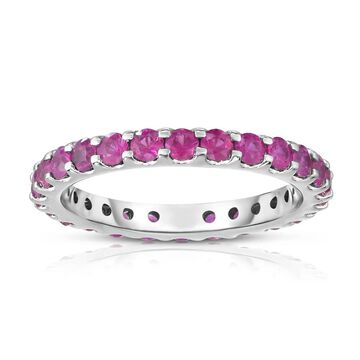 Noray Designs 14K White Gold Pink Sapphire Eternity Ring (1.50 cttw)