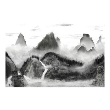RoomMates Majestic Mountains Peel & Stick Wallpaper Mural, Multicolor