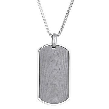Men's LYNX Damascus Steel Dog Tag Necklace