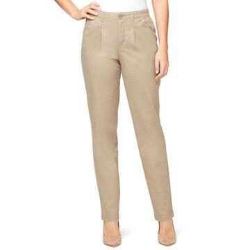 Women's Gloria Vanderbilt Pleated Chino Pants With Comfort Waistband
