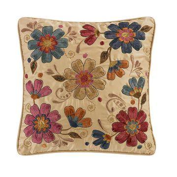 Donna Sharp Dizzy Flower Decorative Pillow, Beige, Fits All