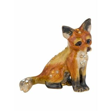 Embellished Fox Figurine Brown