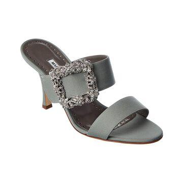Manolo Blahnik Gable Jewel 90 Leather Sandal