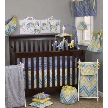 Cotton Tale Zebra Romp 7-piece Crib Bedding Set
