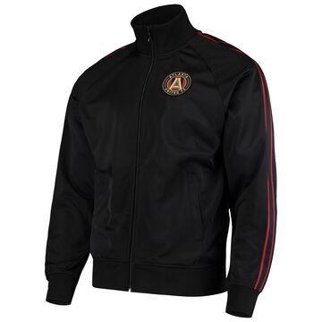 Men's Mitchell & Ness Black Atlanta United FC Raglan Full-Zip Track Jacket