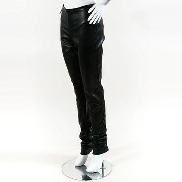 Haider Ackermann Black Leather Trousers