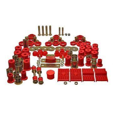 Energy Suspension 67-69 Chevrolet Camaro (w/multi leaf springs) Red Hyper-flex Master Bushing Set