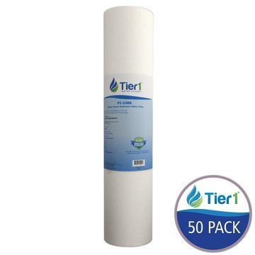 Tier1 Replacement for Hydronix DGD-5005-20 SDC-45-2005 5 Micron 20 x 4.5 Spun Wound Polypropylene Water Filter 50 Pack