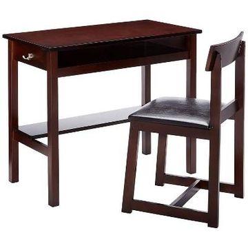 Vester Desk & Chair Black - Benzara