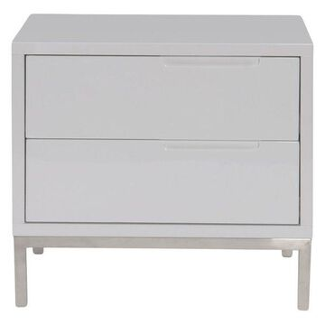 Moes Home Collection ER-1199 Naples End Table, White