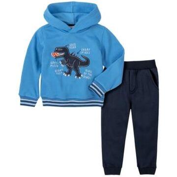 Kids Headquarters Baby Boys Dino Pullover Fleece Pant Set