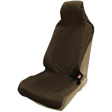 Coverking Seat Shield Canvas Seat Covers in Tan, Front Seat Cover