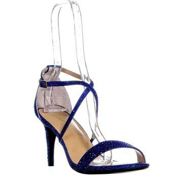 Thalia Sodi Womens Darria Fabric Open Toe Special Occasion