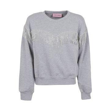 Chiara Ferragni Frange Strass Sweatshirt