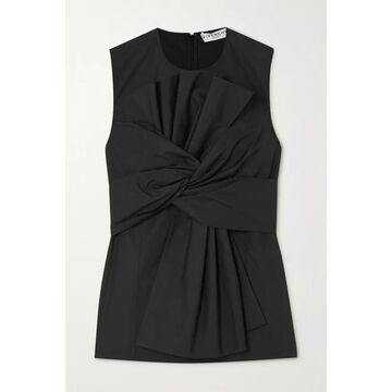 Givenchy - Gathered Pleated Cotton-poplin Top - Black