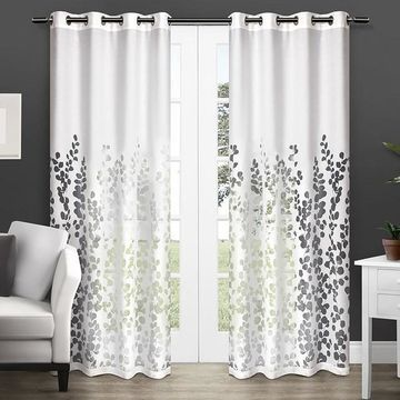 Exclusive Home Wilshire Burnout Sheer Window Curtains