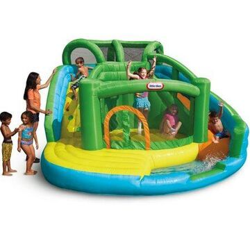 Little Tikes 2 in 1 Wet 'n Dry Waterslide and Inflatable Bouncer