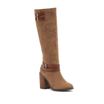 Madden Girl Womens EDREA Almond Toe Mid-Calf Fashion Boots