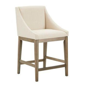 Madison Park Upholstered Stool in Cream