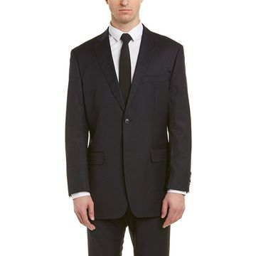 English Laundry Mens 2Pc Wool Suit With Pleated Pant
