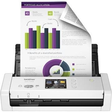 Brother Desktop Scanner for Documents, Wireless, White (ADS-1700W)   Quill