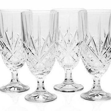 Brand New Godinger Dublin Crystal Set of 12 Iced Beverage Glasses