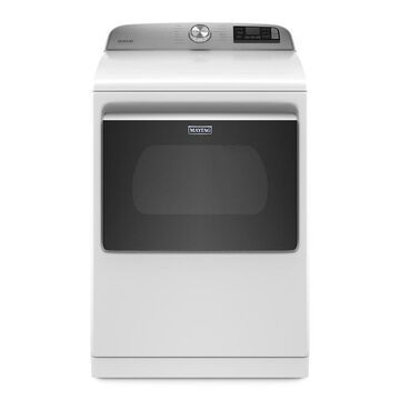Maytag 7.4-cu ft Smart Capable Vented Steam-Enhanced Energy Star Gas Dryer with Extra Power Button - White