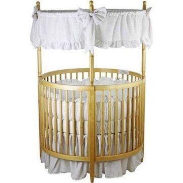 Dream On Me Sophia Posh Circular Mini Crib, Natural