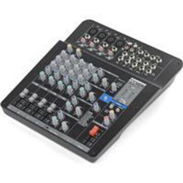 Samson MXP124FX MixPad Compact 12-Input Analog Stereo Mixer with Effects and USB for Clubs/Bars/Houses of Worship, 3-Band EQ, 48V Phantom Power