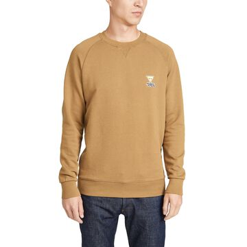 Maison Kitsune Long Sleeve Sweatshirt with Smiley Fox Patch
