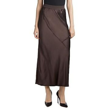 Atm Anthony Thomas Melillo Paneled Silk Skirt